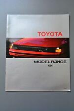 UK Sales Brochure Toyota Range 1986 Space Cruiser Celica GT Tercel Starlet