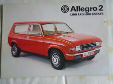 Austin Allegro 2 1300 & 1500 Estate brochure Dec 1975 ref 3169