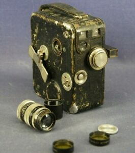 Nizo Cine 8E & Leitz Hector Rapid 1,2cm & Voigtländer Skopar 5cm Filmkamera 30er