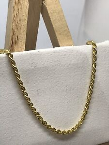 375 Hallmarked 9ct Yellow Gold 3.5mm Rope Chain Necklace Brand New ALL SIZE