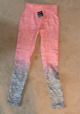 Gold Medal Women's Fashion Leggings Pink Gray Size Large XL Brand New With Tags