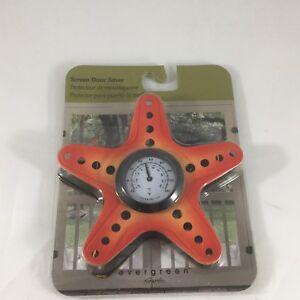 Evergreen Coastal Creatures Starfish Thermometer Screen Saver For Doors Windows