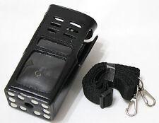 Hard PU Leather Holster Case For Motorola 2 Way Radio GP338 GP340 GP328 GP380