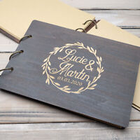 Personalized Wedding Guestbook Custom Guest Book Rustic Wood Album Wedding Gift