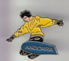 RARE PINS PIN'S .. SPORT HIVER SKI SKIING MONOSKI SNOWBOARD ANDORRE ANDORRA ~DR