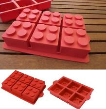 NEW Large Silicone Building Block Cake Pan Lego Brick Style Cake Mold Jelly Soap