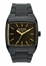 Nixon Manual II Watch (Matte Black / Orange Tint)