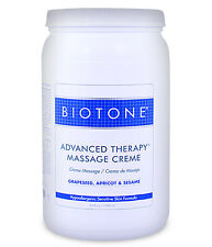 Biotone Advanced Therapy Massage & Spa Cream - Half Gallon Creme