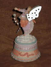 Whimsical Winged Sprite or Fairy Figurine Music Box Twinkle Twinkle - Nwt !