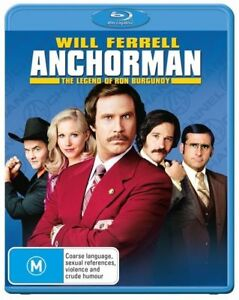 Anchorman : Will Ferrell : NEW BLU RAY