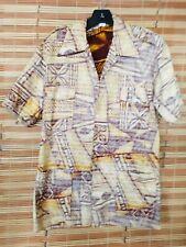 True vintage Barkcloth 4 Pockets Sachi's Of Hawaii Shirt Mint
