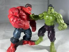 "Marvel Universe 2009 Red Hulk 3.75"" Figure And Hasbro Regular Green Hulk"