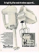PUBLICITE ADVERTISING 054  1969  MOULINEX  le batteur-mixeur              190514