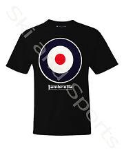 Lambretta Target Mens Short Sleeve Casual Crew Neck T Shirt Tee Top Black S