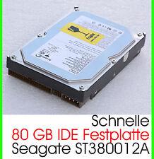 """3,5"""" 8,89 cm 80 gb 80gb disco duro IDE HDD Seagate st380012a rápidamente 7200u/m f17"""