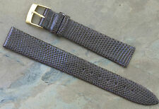 Made in Italy Genuine Lizard 16mm vintage watch band great texture very elegant