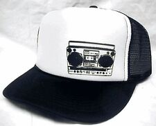 BOOM BOX left side Trucker Hat mesh hat snapback hat