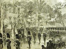 Utica NY Elizabeth Street 9th ANNUAL REUNION CUMBERLAND ARMY 1875 Print Matted