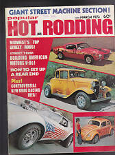 Popular Hot Rodding Magazine Street Machine Drag Racing March 1973