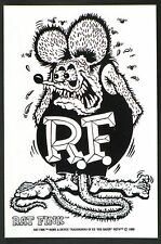 Rat Fink STICKER Decal Ed Big Daddy Roth RF17B/W Black & White Regular Version