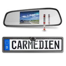 Carmedien Rückspiegel Rückfahrsystem CM-DNRSRFS1 Nummernschild Rückfahrkamera 12