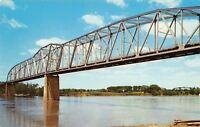 St Joseph Missouri~Pony Express Bridge Over Missouri River~1950s Postcard