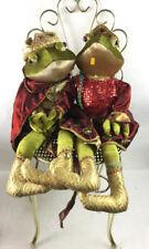 Golden King & Queen Frogs & Chair Lot 2054