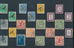 LN18481 Suriname birds airmail fine lot used