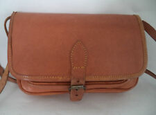 VINTAGE TAN BROWN LEATHER SHOULDER BAG HANDBAG SATCHEL CROSS BODY