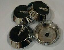 4x NEW JAPAN ABS Car Wheel Center Caps Chrome for Advan Racing Wheel 68mm