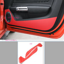 red Car Door anti kick carbon paste red car sticker for Ford Mustang 2015-2017