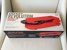 CROSLEY REVOLUTION RED PORTABLE USB TURNTABLE BRAND NEW