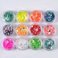 Epoxidharz Glitzen Pailletten Shell Glow Shiny Füllmaterial Nail Art DIY Zubehör