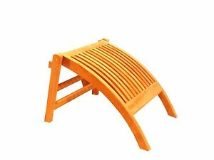 Patio A-Grade Teak Wood Dining Reclining Folding Arm Chair Marley Footrest Only