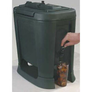Carlisle XB503 Drink Container - Slide N Seal Insulated, 5 Gallon, Black