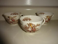 Vintage LOT of 3 Johnson Brothers Old Mill Tea  Cups Cup Fine China England