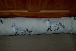 Ex long Fabric Draught Excluder, Large Fox