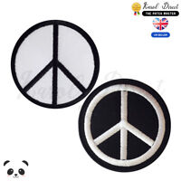 Peace Symbol Embroidered Iron On /Sew On Patch Badge For Clothes etc