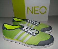 Adidas Men's NEO Easy Jacquard Sneakers Sport Shoes Grey Yellow Size 11 US New