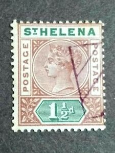 1890 St. Helena Queen Victoria 1 1/2d - 1v Used
