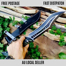 SURVIVAL Fixed Blade Knife Large Bowie Camping Hunting Pocket Fishing Knife