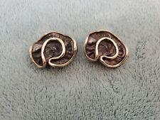 Sterling Silver N.S.Bar-on Large Twist  Clip Earrings 0.7