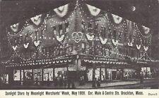 Postcard, Massachusetts, Brockton, Sunlight Store By Moonlight Merchants' Week