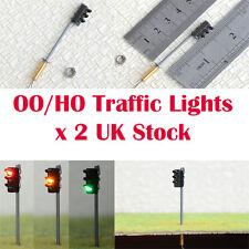 Pack of 2 Traffic Lights HO / OO Gauge 9v to 16v Common Negative