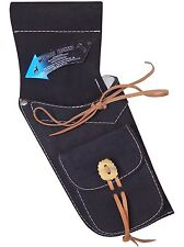 TRADITIONAL FINE BLACK SUEDE  SIDE HIP QUIVER ARCHERY PRODUCTS  AQ173  R / HAND