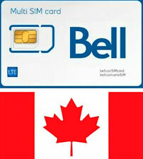 Bell Mobility, Canada, New, SIM card. NANO, MICRO or STD size. For Canada.