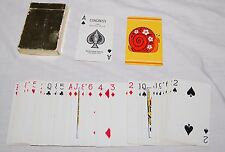 Vintage 60s Hippie Flower Power Snail Playing Cards Game Congress Playing Card