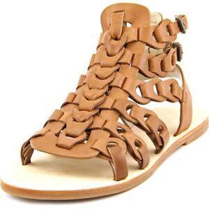 Elie Tahari Artisan Women US 7.5 Tan Gladiator Sandal