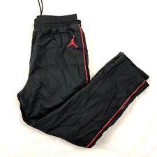 Nike Air Jordan 3 Retro Black Cement Track Pants Black Red 897493-010 Men's M-XL