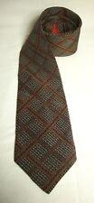 Missoni Necktie Bloomingdales Silk Diamond Pattern Wide Tie On Trend Brown Black